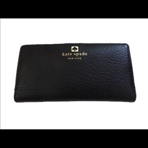 Kate Spade Black Cobble Hill Stacey leather wallet
